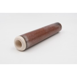 Chillum artigianale by Renato in terracotta smaltata color bronzo, L:149mm