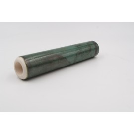 Chillum artigianale by Renato in terracotta smaltata color verde smeraldo, L:139mm