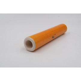 Chillum artigianale by Renato in terracotta smaltata di colore arancio, L:136mm