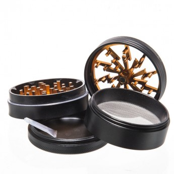 Grinder Grace Lightning gold 4 parti - diametro 63 mm