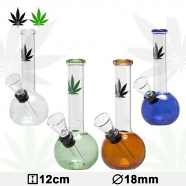 Bong Glass Leaf - MIX- H: 12cm - Ø: 18 mm